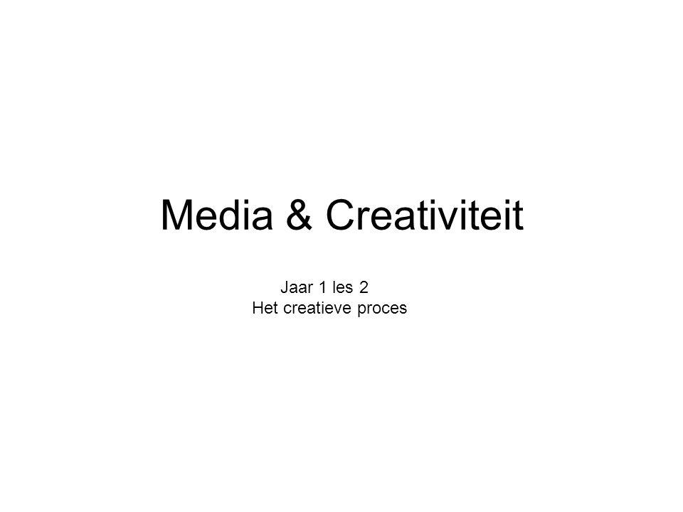 Media & Creativiteit Jaar 1 les 2 Het creatieve proces