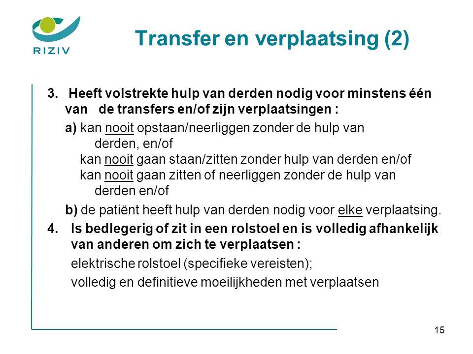 Transfer en verplaatsing (2)