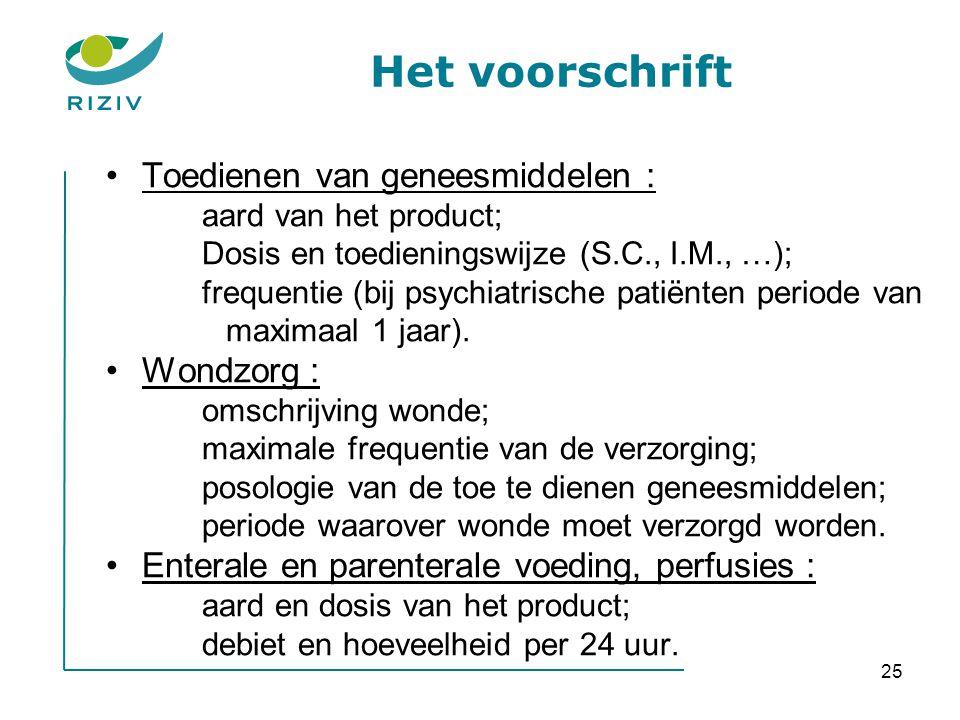 Het voorschrift Toedienen van geneesmiddelen : Wondzorg :