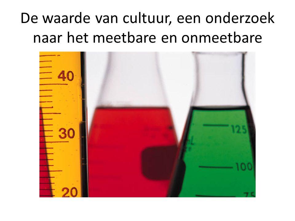 De waarde van cultuur, een onderzoek naar het meetbare en onmeetbare