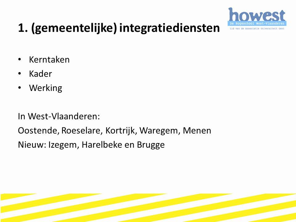 1. (gemeentelijke) integratiediensten