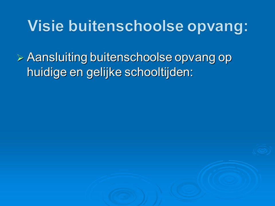 Visie buitenschoolse opvang:
