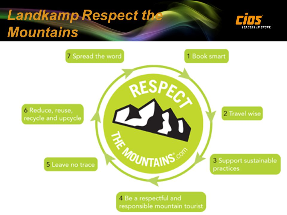 Landkamp Respect the Mountains