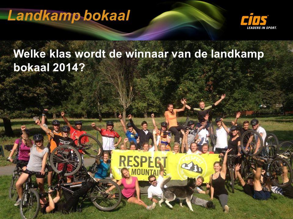 Landkamp bokaal Welke klas wordt de winnaar van de landkamp bokaal 2014