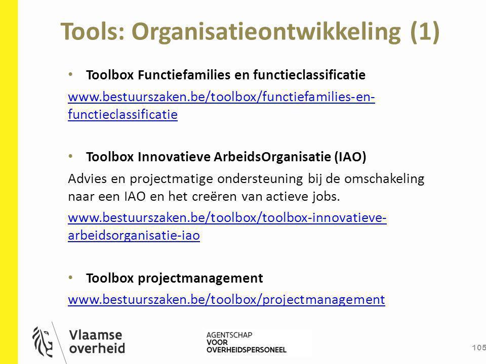 Tools: Organisatieontwikkeling (1)