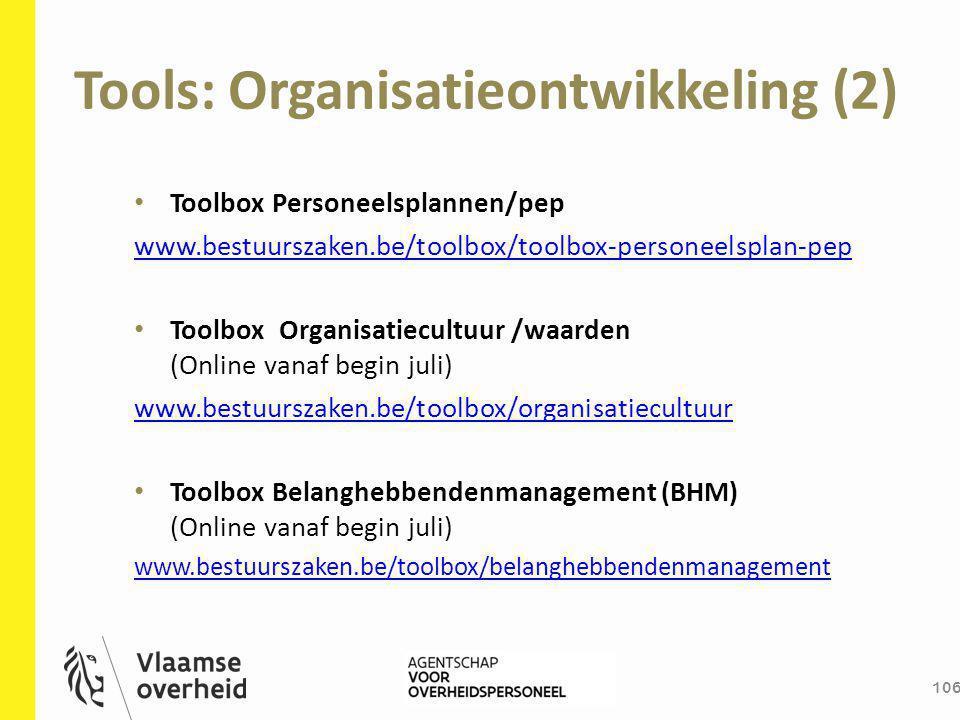 Tools: Organisatieontwikkeling (2)