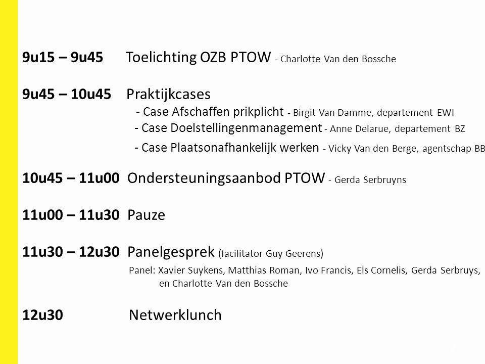 9u15 – 9u45 Toelichting OZB PTOW - Charlotte Van den Bossche