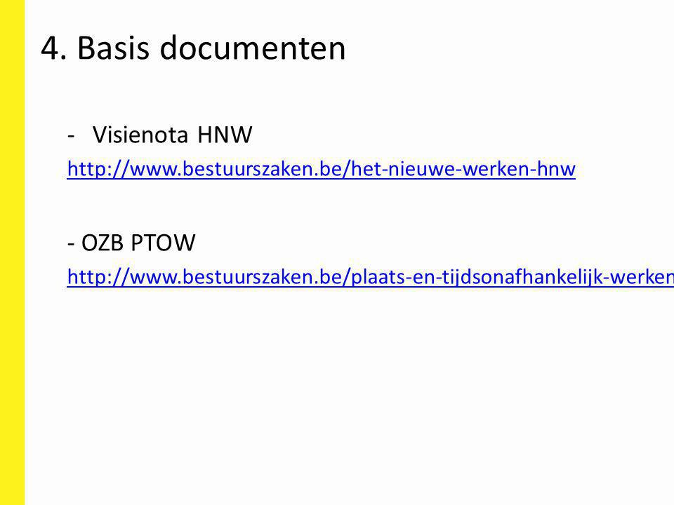 4. Basis documenten Visienota HNW - OZB PTOW