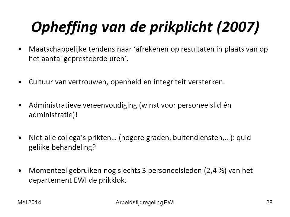 Opheffing van de prikplicht (2007)