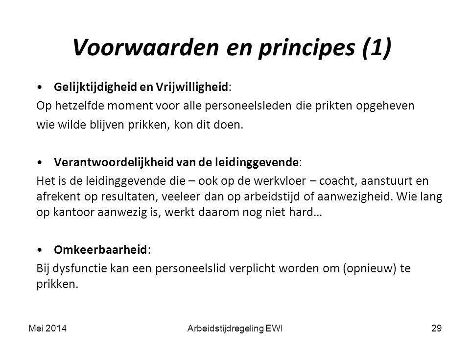 Voorwaarden en principes (1)