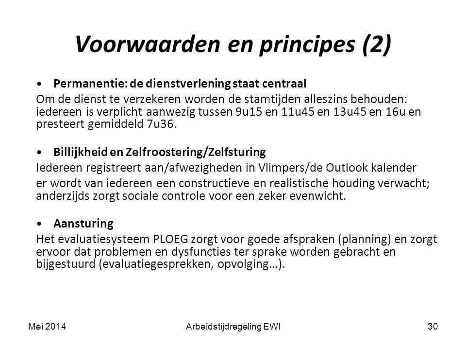 Voorwaarden en principes (2)
