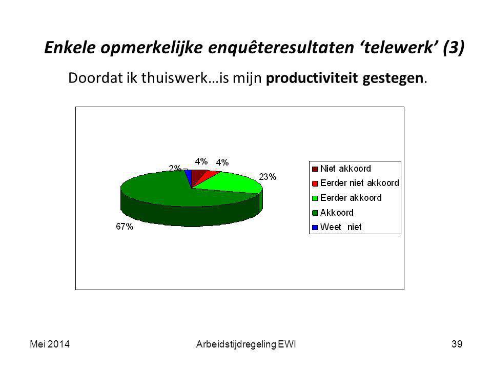 Enkele opmerkelijke enquêteresultaten 'telewerk' (3)
