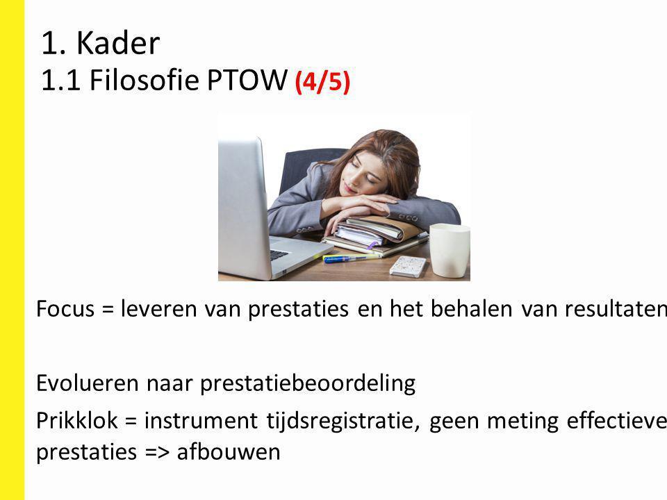 1. Kader 1.1 Filosofie PTOW (4/5)