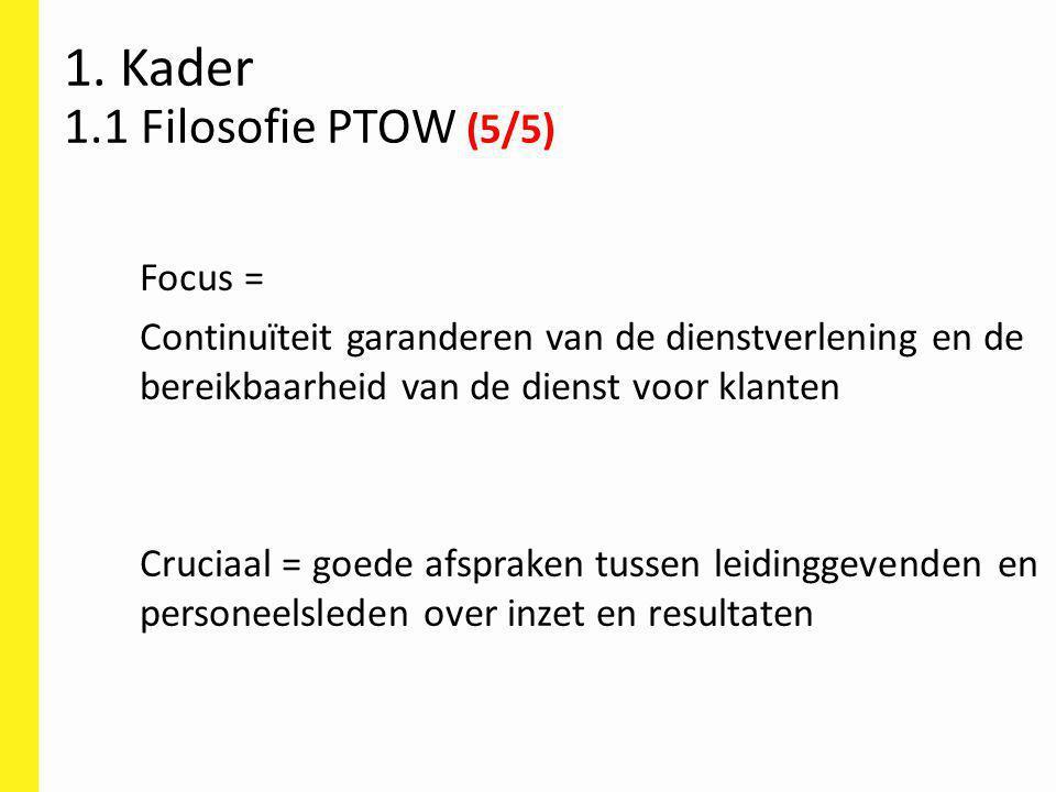 1. Kader 1.1 Filosofie PTOW (5/5)