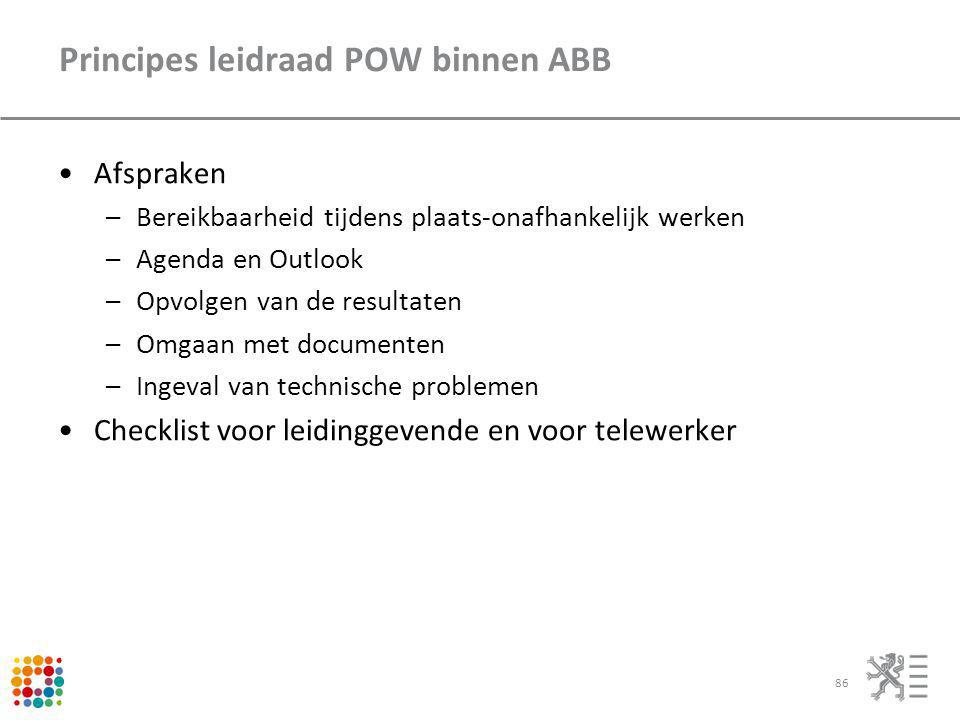 Principes leidraad POW binnen ABB
