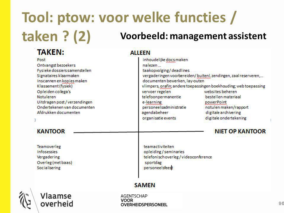 Tool: ptow: voor welke functies / taken (2)