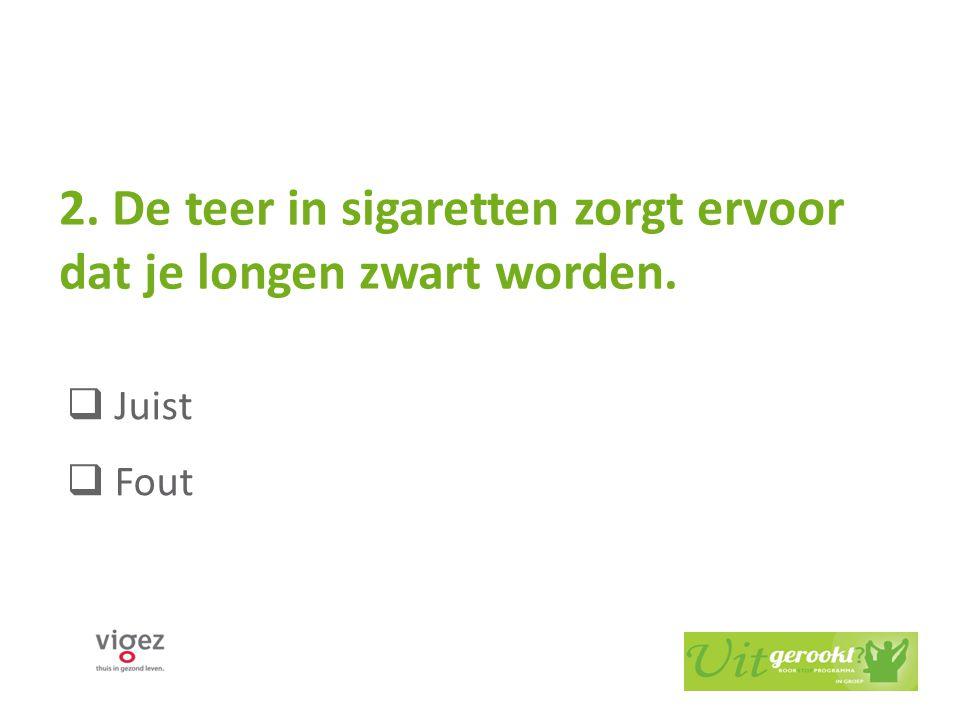 2. De teer in sigaretten zorgt ervoor dat je longen zwart worden.