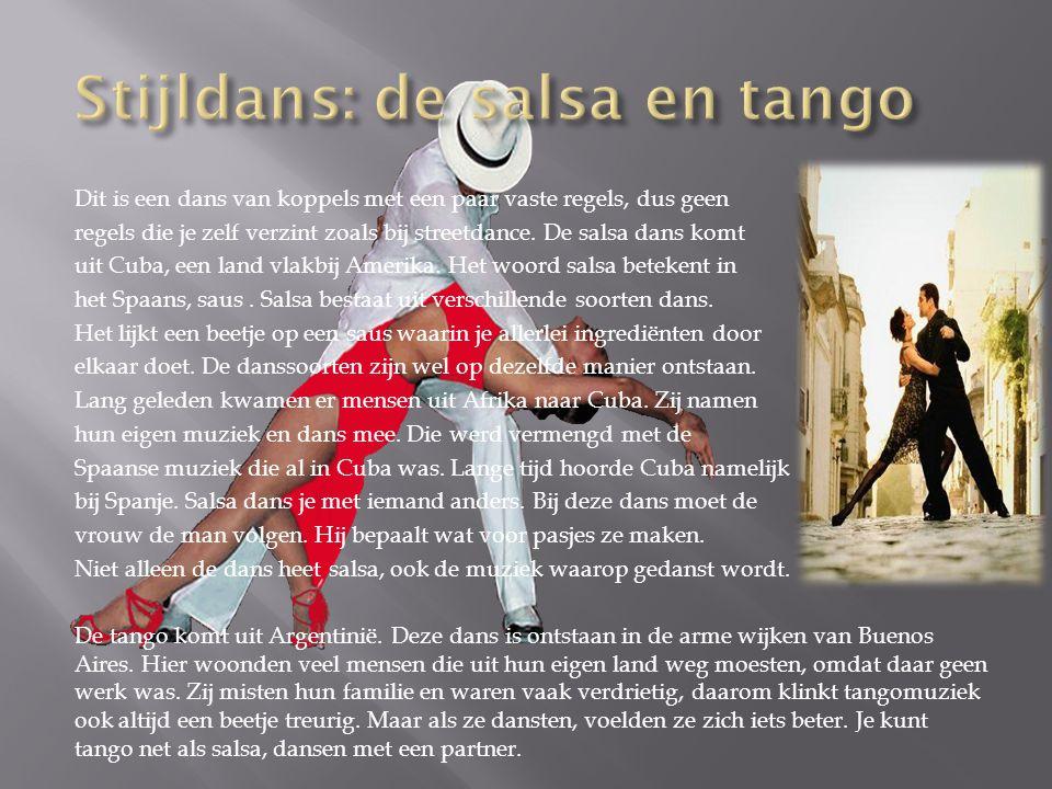 Stijldans: de salsa en tango