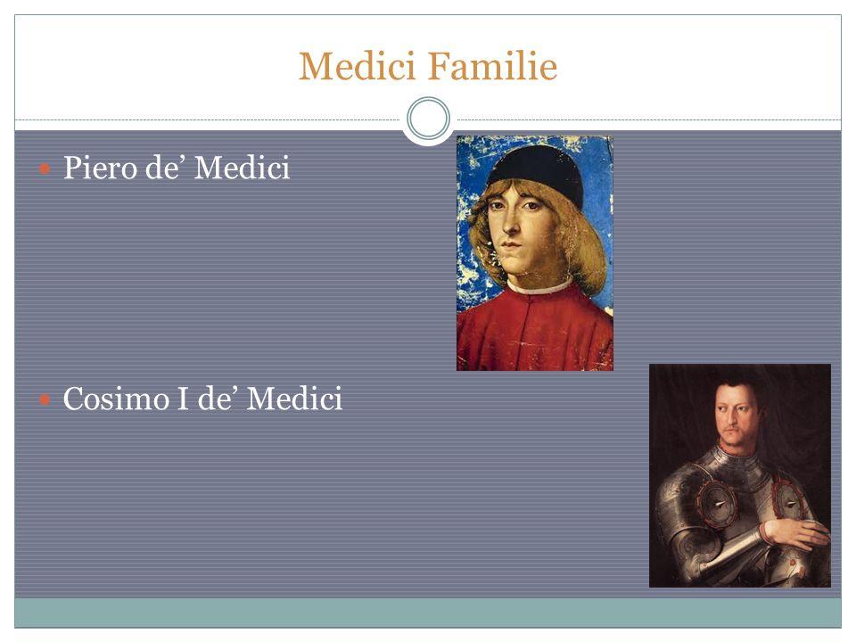 Medici Familie Piero de' Medici Cosimo I de' Medici