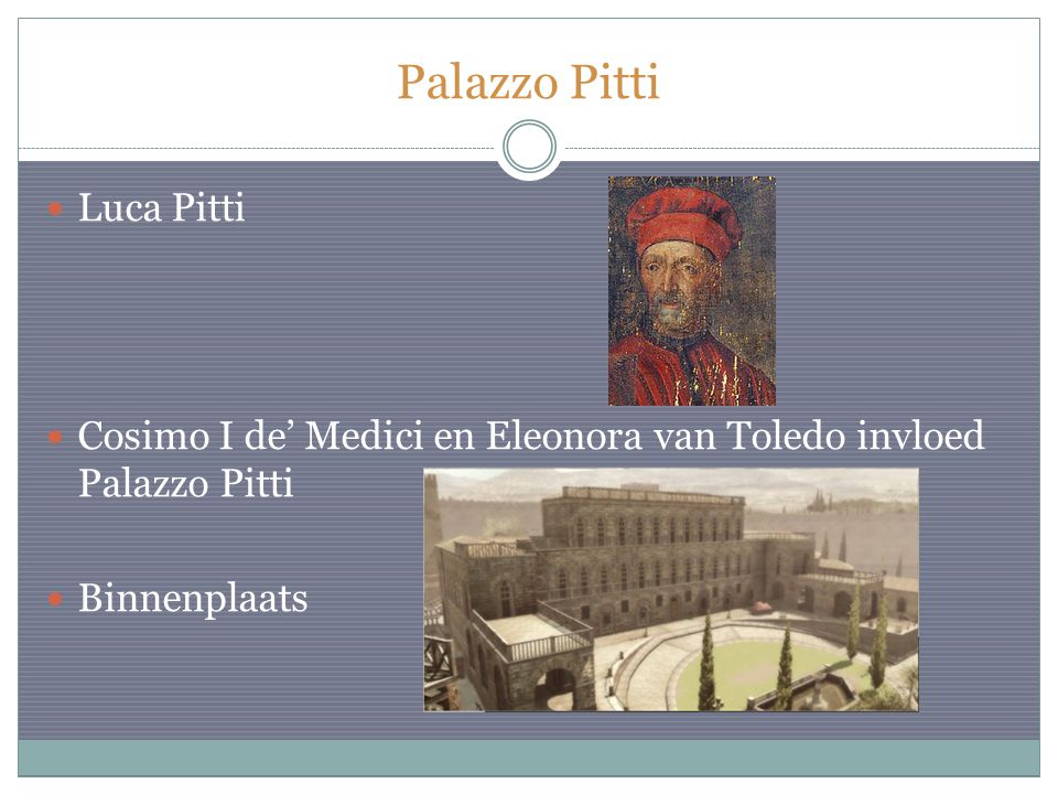 Palazzo Pitti Luca Pitti