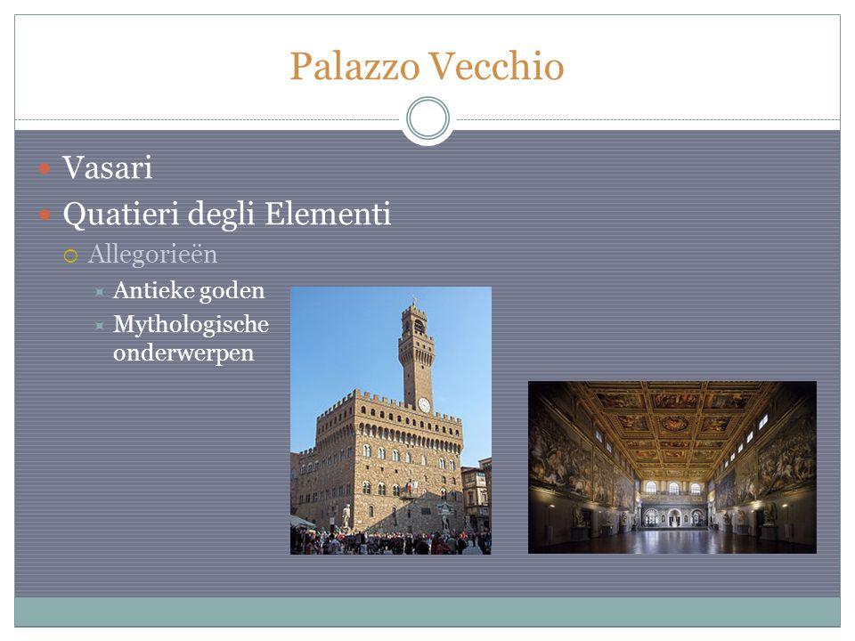 Palazzo Vecchio Vasari Quatieri degli Elementi Allegorieën