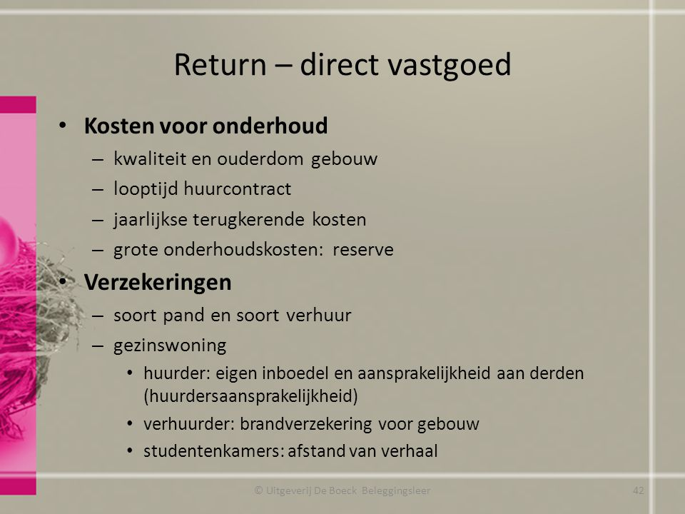 Return – direct vastgoed