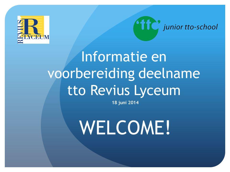 Informatie en voorbereiding deelname tto Revius Lyceum