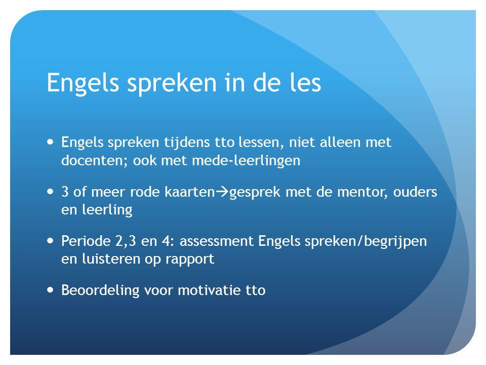 Engels spreken in de les