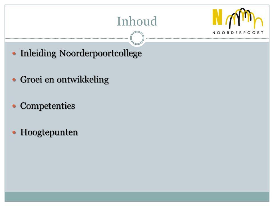 Inhoud Inleiding Noorderpoortcollege Groei en ontwikkeling