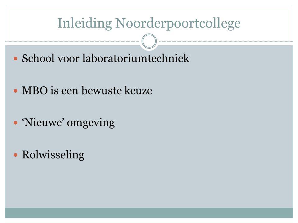 Inleiding Noorderpoortcollege