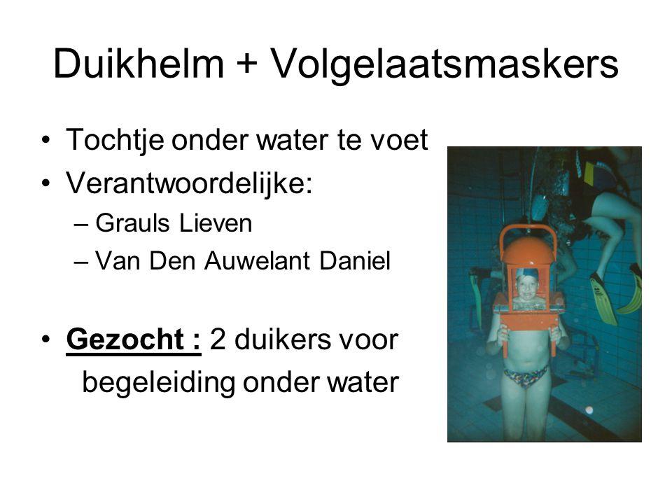 Duikhelm + Volgelaatsmaskers