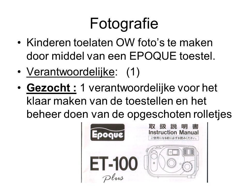 Fotografie Kinderen toelaten OW foto's te maken door middel van een EPOQUE toestel. Verantwoordelijke: (1)
