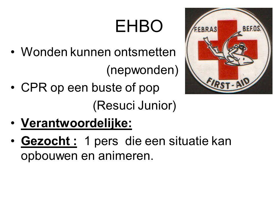 EHBO Wonden kunnen ontsmetten (nepwonden) CPR op een buste of pop