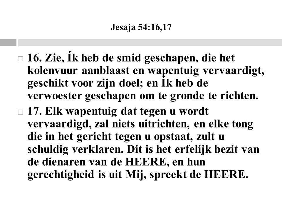 Jesaja 54:16,17