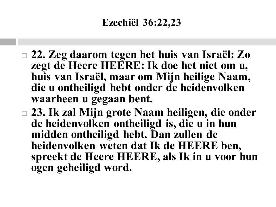 Ezechiël 36:22,23