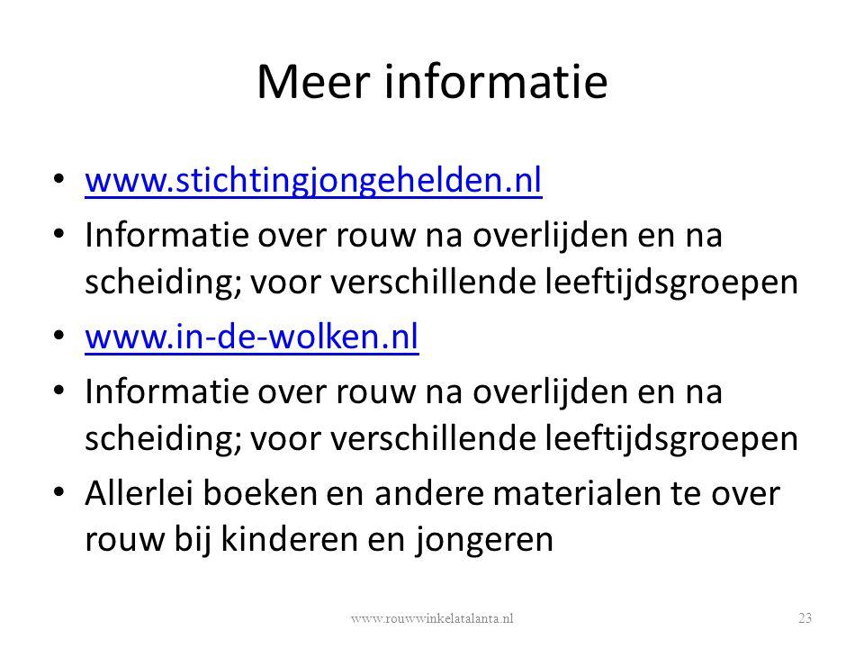 Meer informatie www.stichtingjongehelden.nl