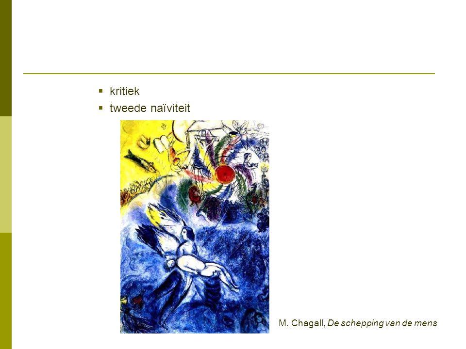kritiek tweede naïviteit M. Chagall, De schepping van de mens