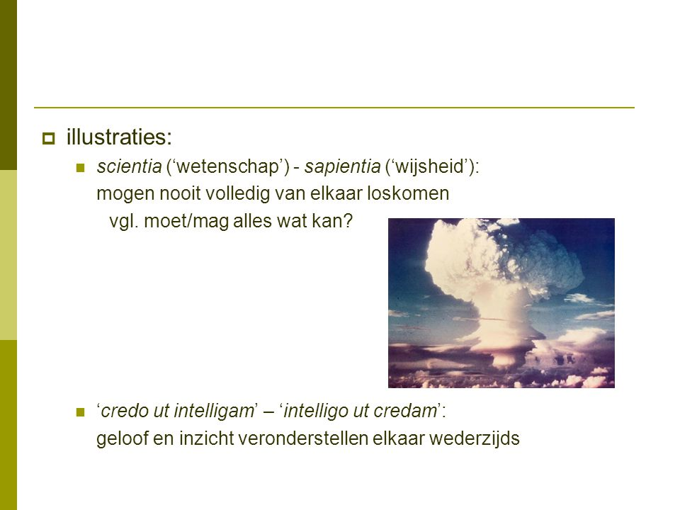 illustraties: scientia ('wetenschap') - sapientia ('wijsheid'):