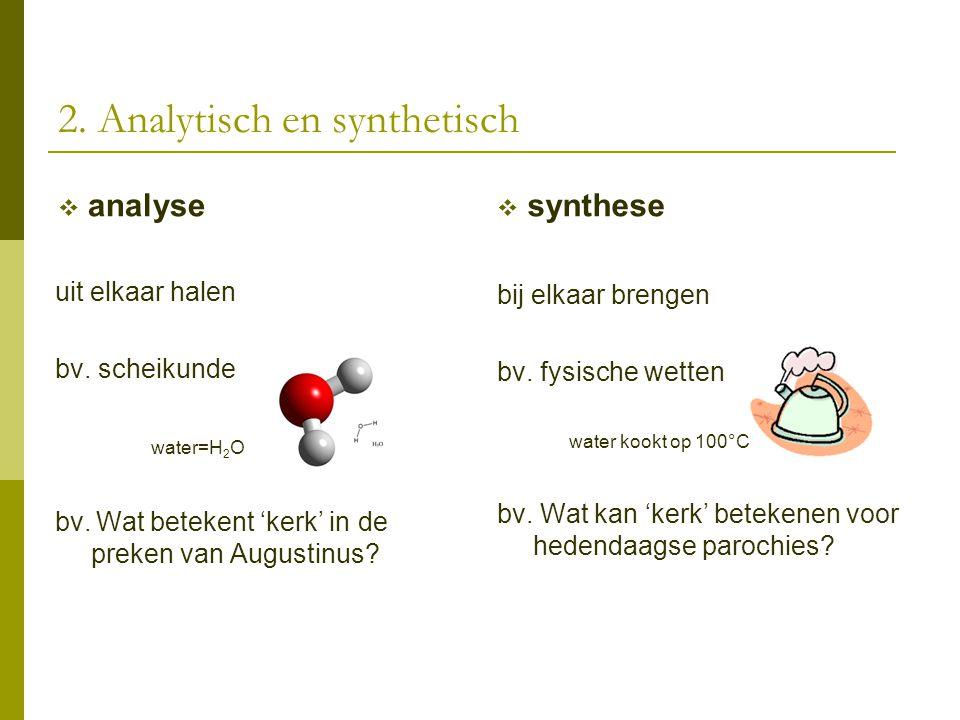 2. Analytisch en synthetisch