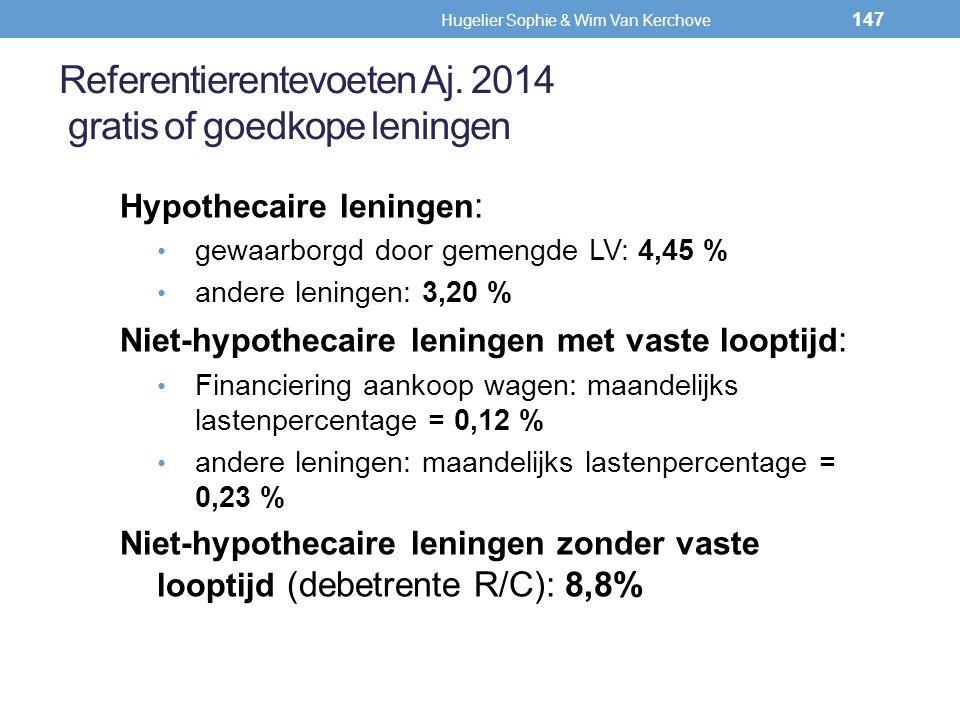 Referentierentevoeten Aj. 2014 gratis of goedkope leningen