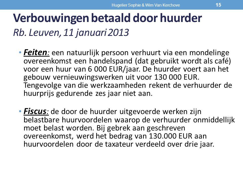 Verbouwingen betaald door huurder Rb. Leuven, 11 januari 2013