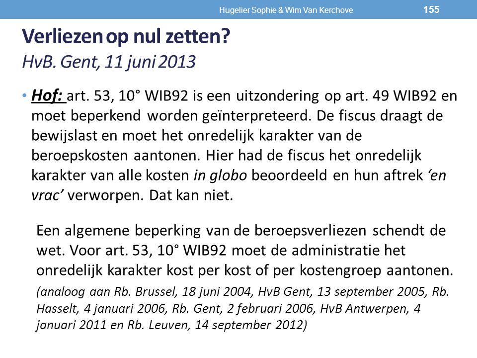 Verliezen op nul zetten HvB. Gent, 11 juni 2013