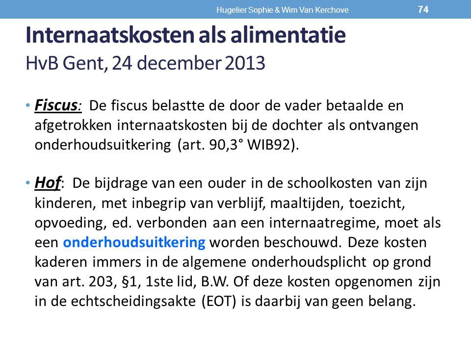 Internaatskosten als alimentatie HvB Gent, 24 december 2013