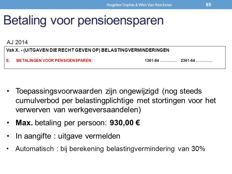 Betaling voor pensioensparen