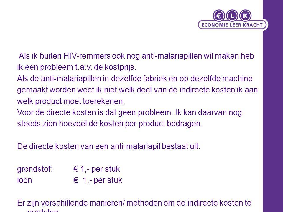 Als ik buiten HIV-remmers ook nog anti-malariapillen wil maken heb ik een probleem t.a.v.