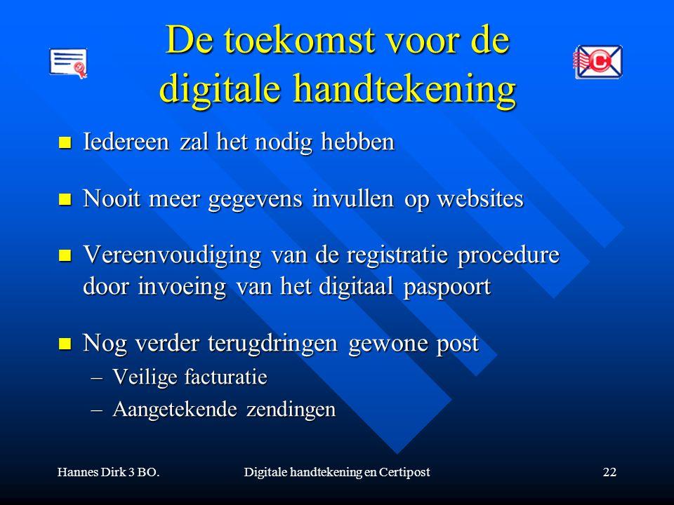 De toekomst voor de digitale handtekening