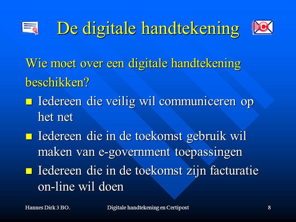 De digitale handtekening
