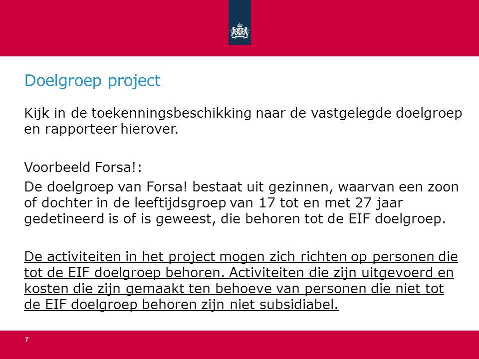 Doelgroep project