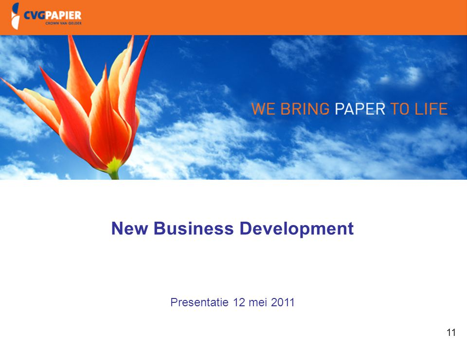 1. Intro & doelstellingen New Business Development