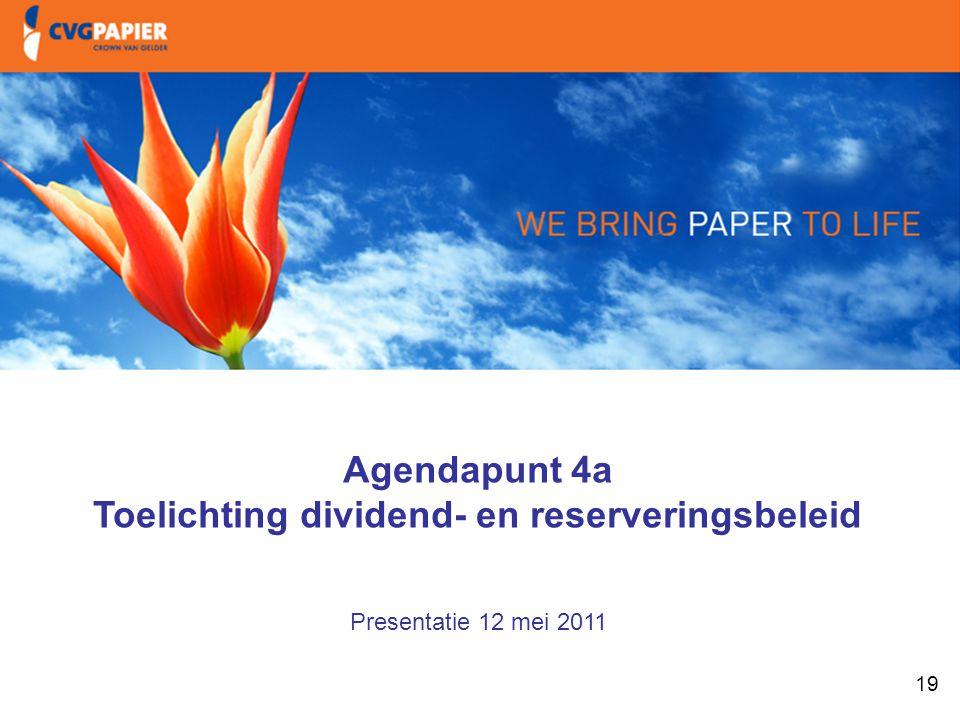 1. Intro & doelstellingen Toelichting dividend- en reserveringsbeleid